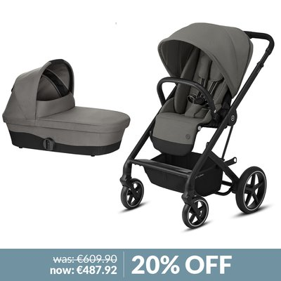 Cybex Balios S Lux Pushchair & Carrycot Bundle - Soho Grey
