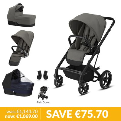 Cybex Gazelle S Newborn & Toddler Pushchair Bundle - Soho Grey
