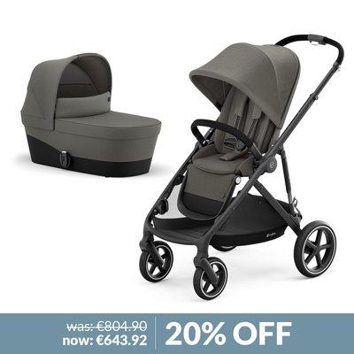 Cybex Gazelle S Pushchair & Carrycot Bundle - Soho Grey