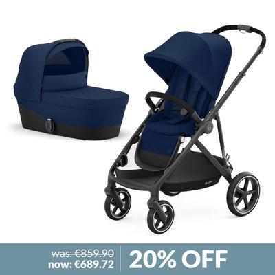 Cybex Gazelle S Pushchair & Carry Cot Bundle - Navy Blue