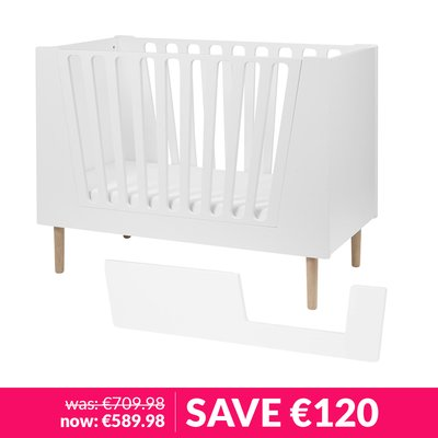 Done by Deer Cotbed & Step In Guard Bundle  70x140cm - White