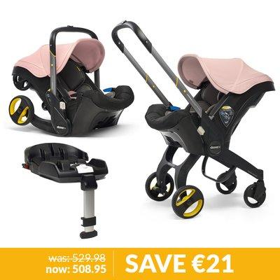 Doona Infant Car Seat / Stroller & Base Bundle - Blush Pink
