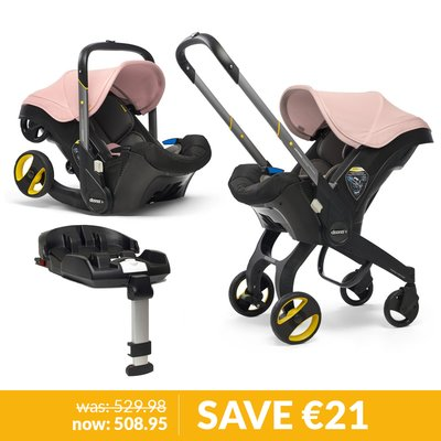 Doona Infant Car Seat / Stroller & Base Bundle - Blush Pink