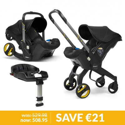 Doona Infant Car Seat / Stroller & Base Bundle - Nitro Black