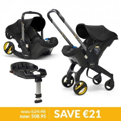 Doona Infant Car Seat / Stroller & Base Bundle - Nitro Black