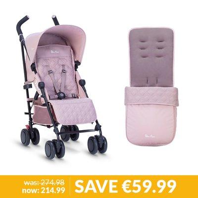 Silver Cross Pop Stroller & Footmuff Bundle - Blush