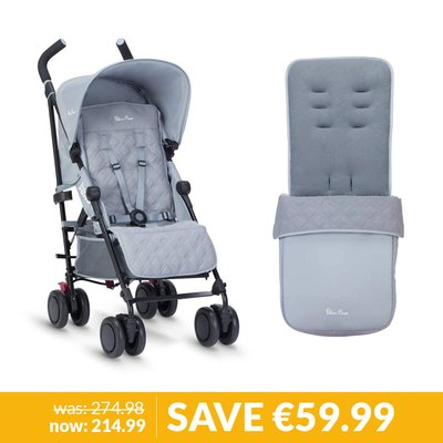 Silver Cross Pop Stroller & Footmuff Bundle - Quarry