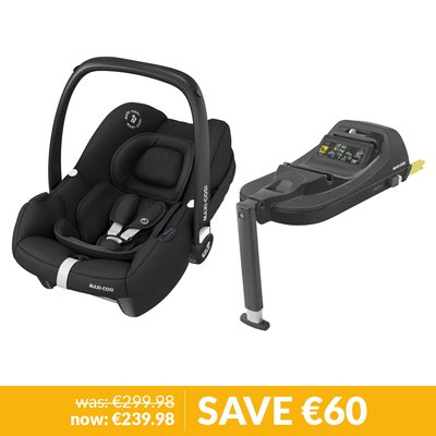 Maxi-Cosi Tinca Car Seat & Base Bundle - Essential Black