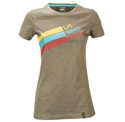 Stripe Logo T-Shirt W