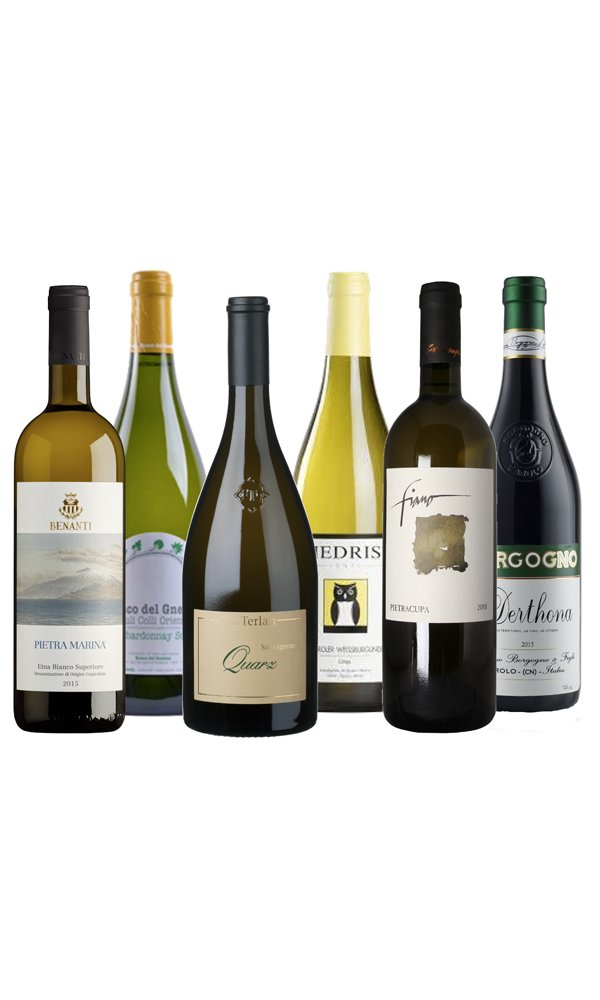 Fine Italian White Wines (Case of 6 – Mixed Wines)
