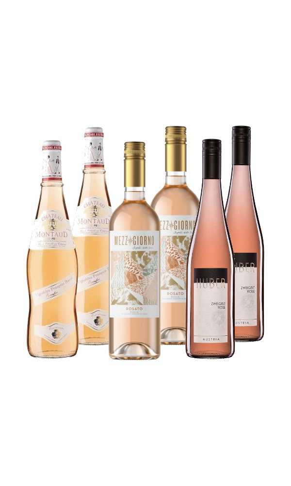 Blush Wine Selection (Case of 6 - Rosé Wines)
