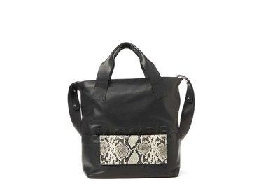 Petra<br>Shopping bag con pochette effetto rettile estraibile