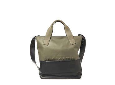 Petra<br>Khaki shopper bag with removable clutch