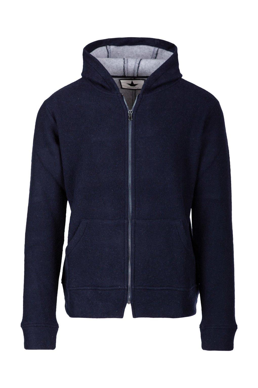 Sweatshirt with Hood in Wool Blend