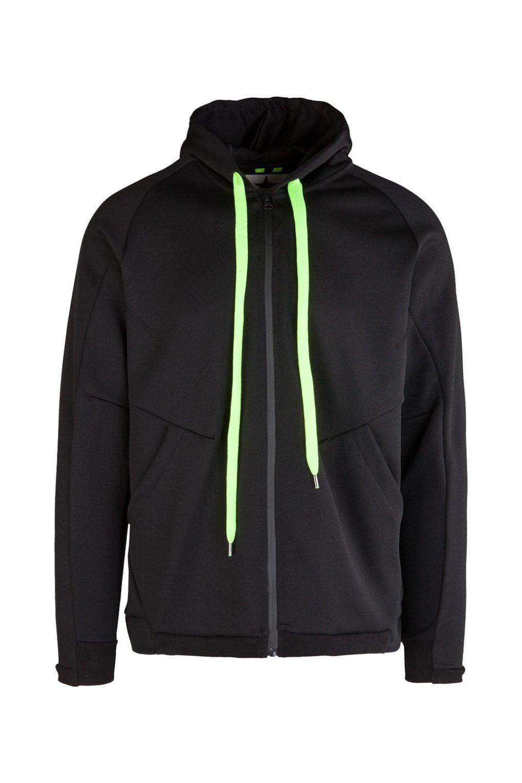 Technical Sweatshirt with Fluo Details