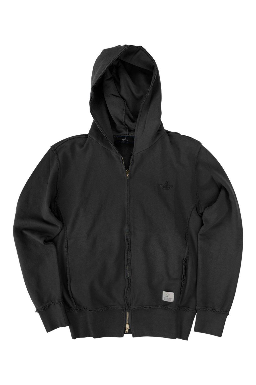 Zipped hoodie marbled effect