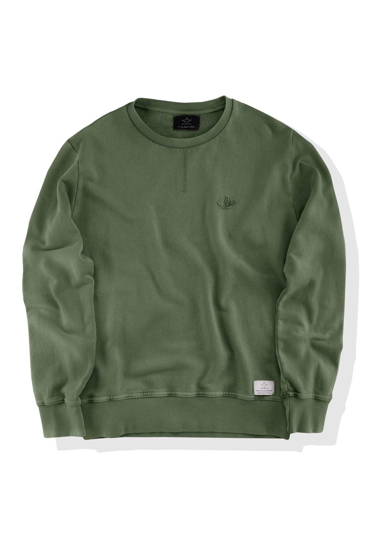 Round collar sweater marbled effect