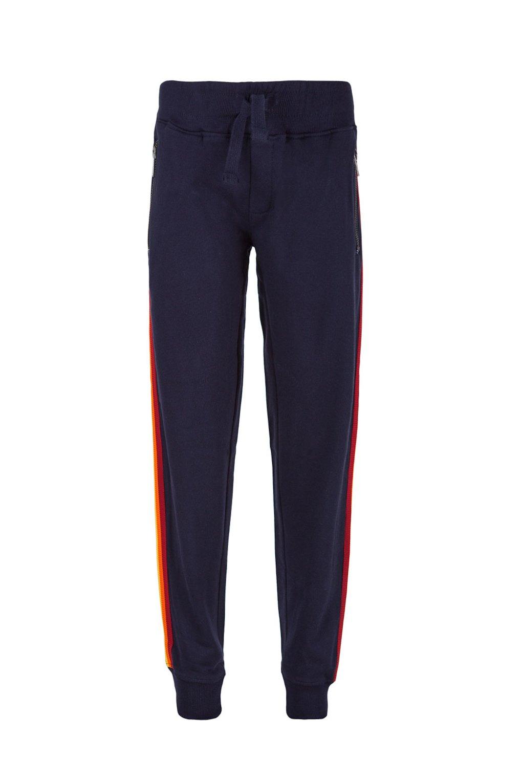 Pantalone in felpa con nastro multicolor