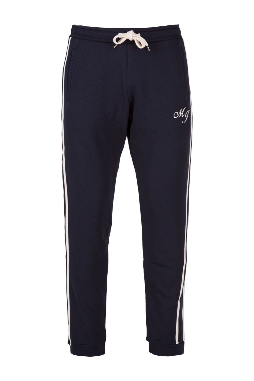 Pantalone in Felpa con Bande Laterali