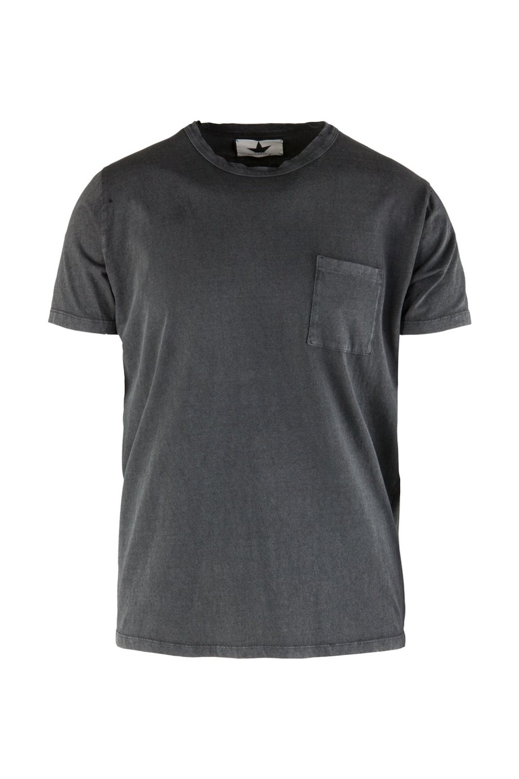 Stone Washed T-Shirt with Brest Pocket