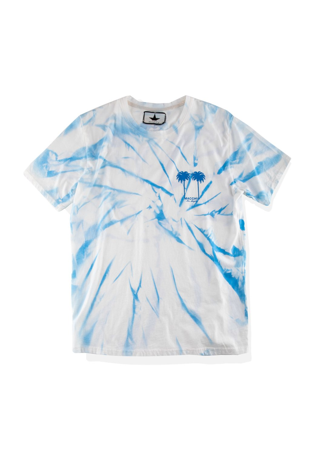 T-Shirt with palm prints tie-dye effect