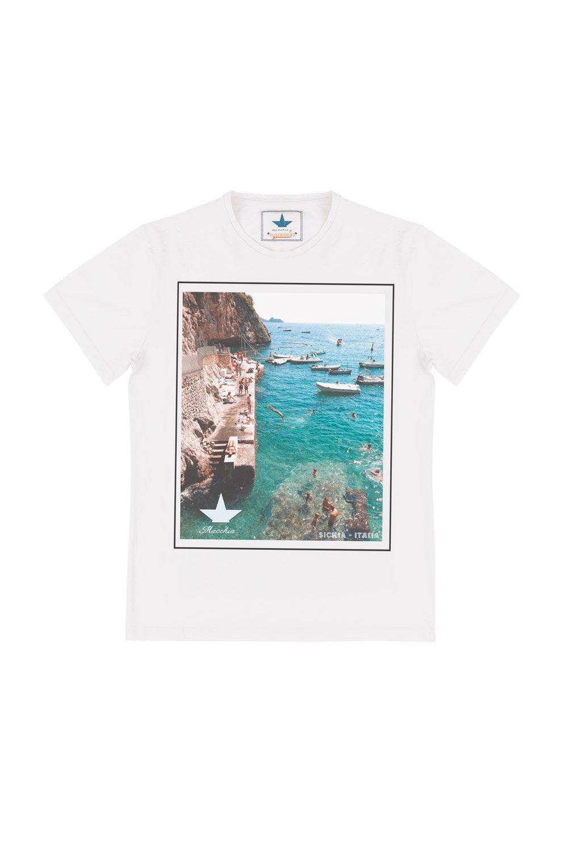 T-Shirt in Cotone Stampa Fotografica