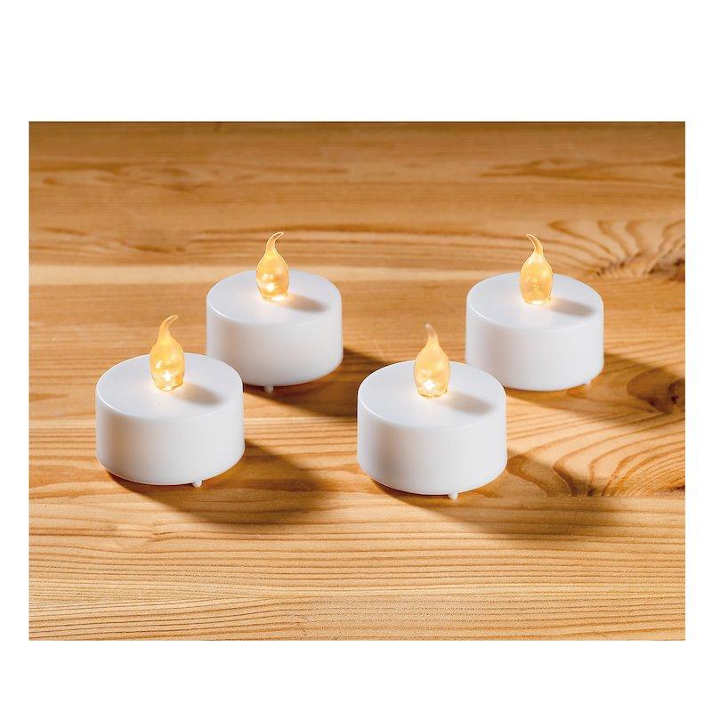 Lote 4 velas LED blancas larga duración