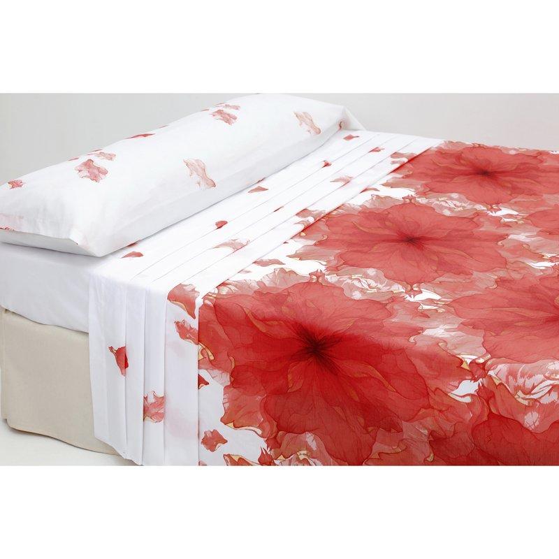 Juego de cama 2 piezas Ágatha de polialgodón - Blanco