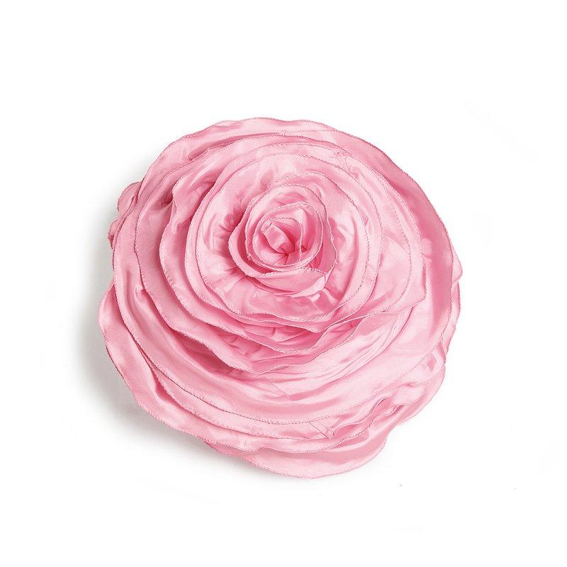 Funda de cojín redonda en forma de flor rizada