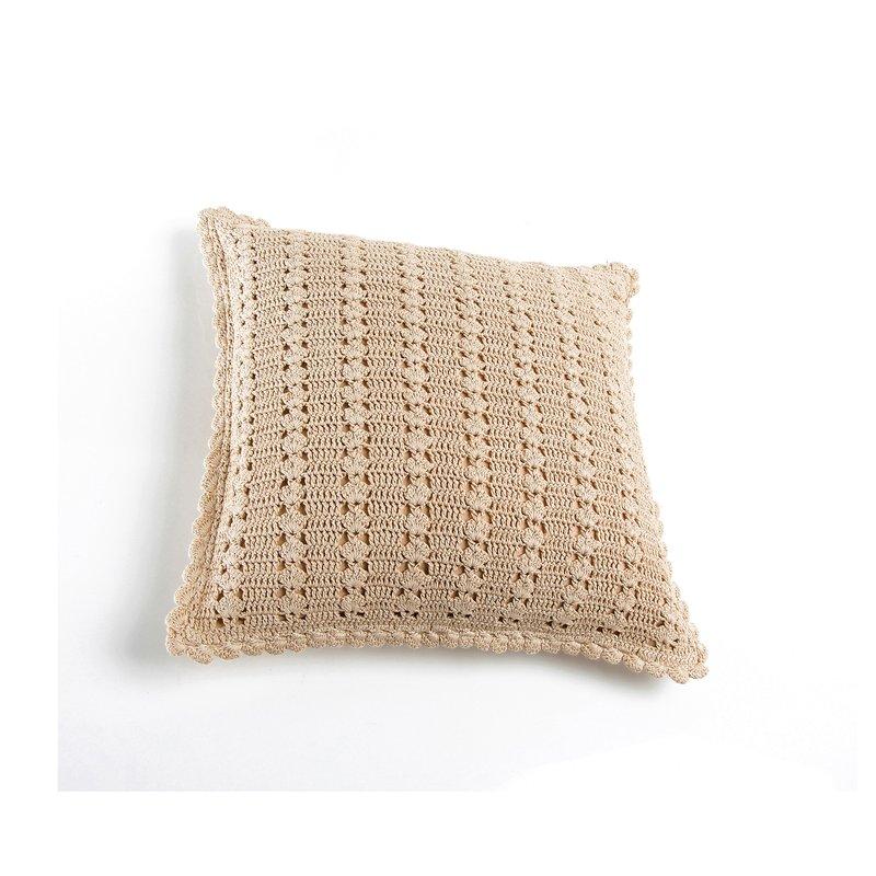 Funda cojín cuadrada crochet con cremallera