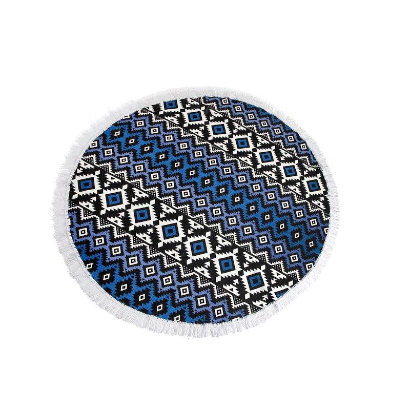Alfombra redonda estampado mandala de algodón
