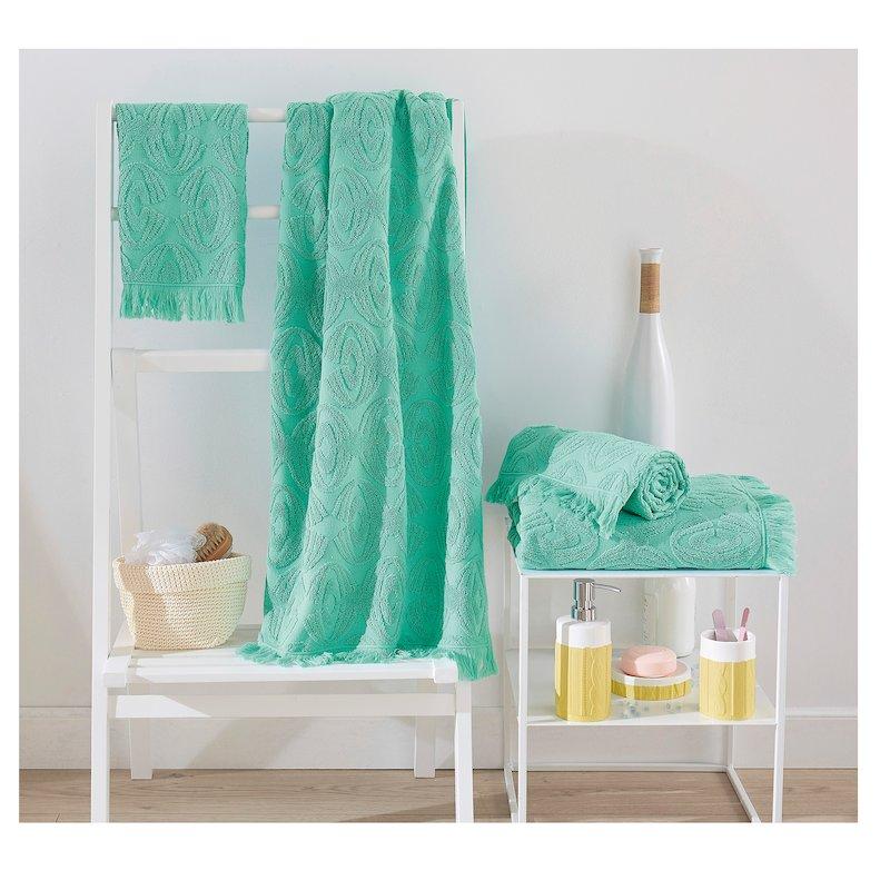 Lote 3 toallas con diseño jacquard