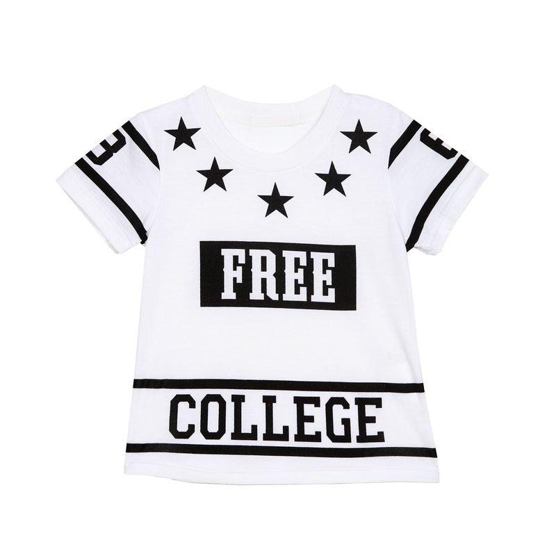 Camiseta de niño con estampado gráfico College