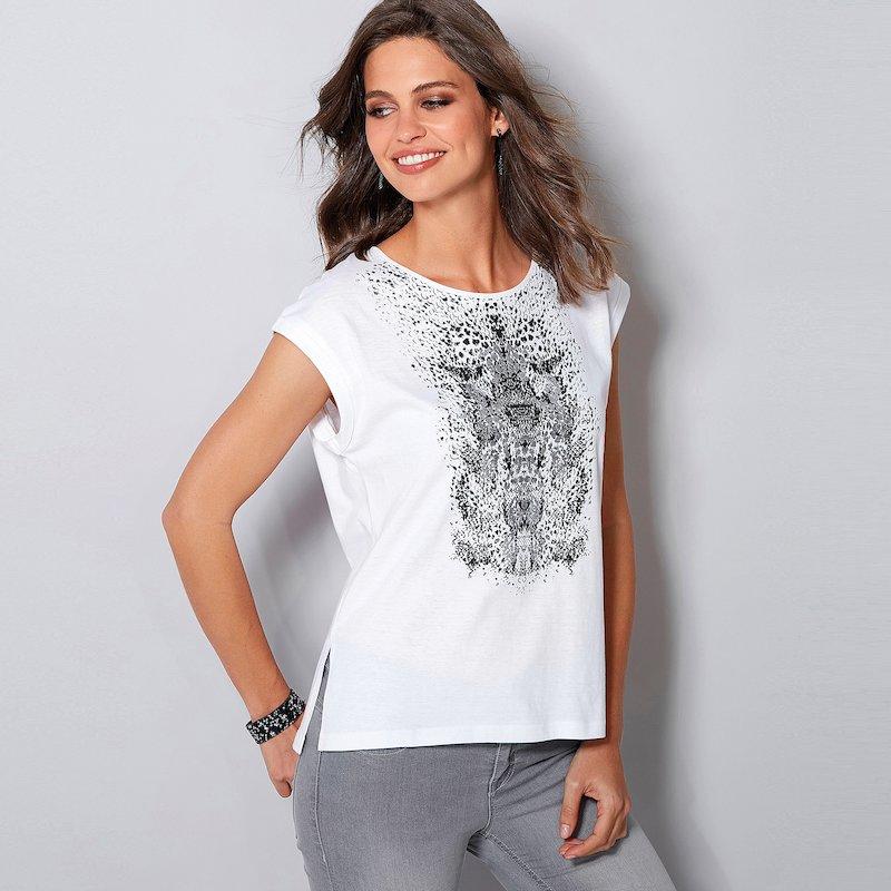 Camiseta mini manga tribal de acabado metalizado