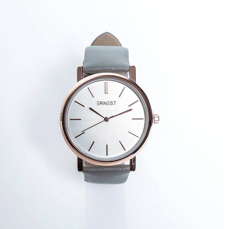 Reloj analógico de mujer con correa de piel