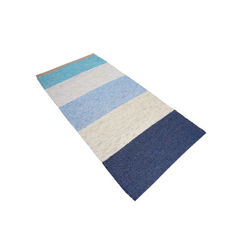 Alfombra de rayas tejidas rectangular