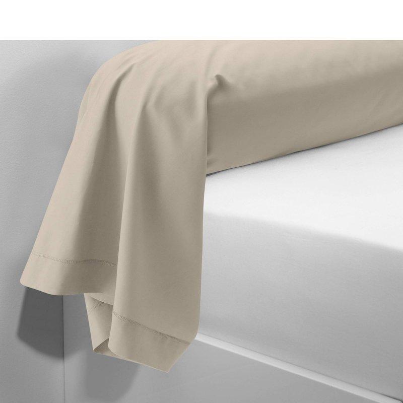 Funda de almohada tejido 100% algodón color lino