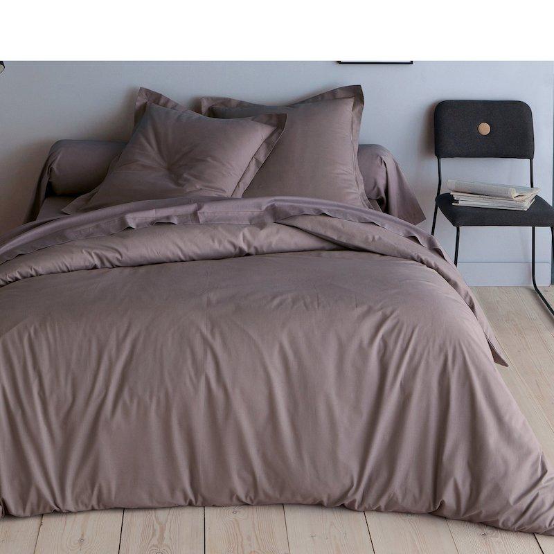 Funda nórdica tejido 100% algodón color marrón