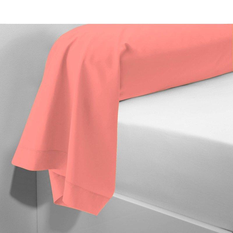 Funda de almohada tejido 100% algodón color melocotón