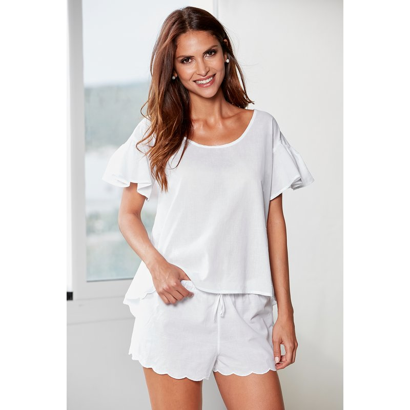 Pijama algodón 2 piezas mujer en tejido cambric