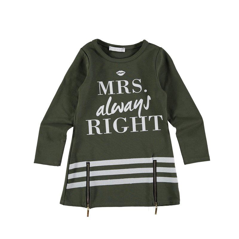 Camiseta niña manga larga con estampado gráfico