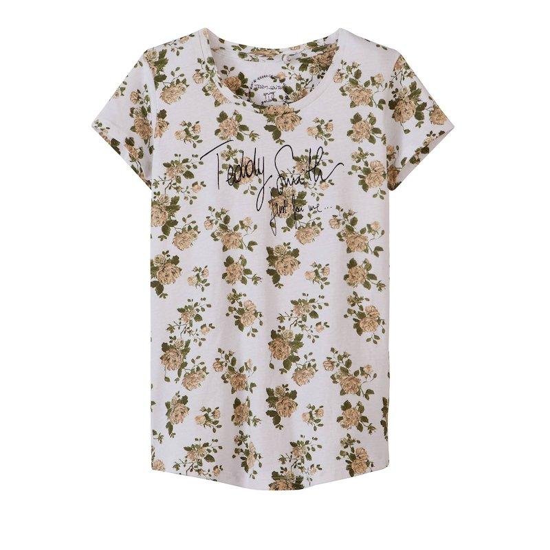 Camiseta manga corta estampada niña