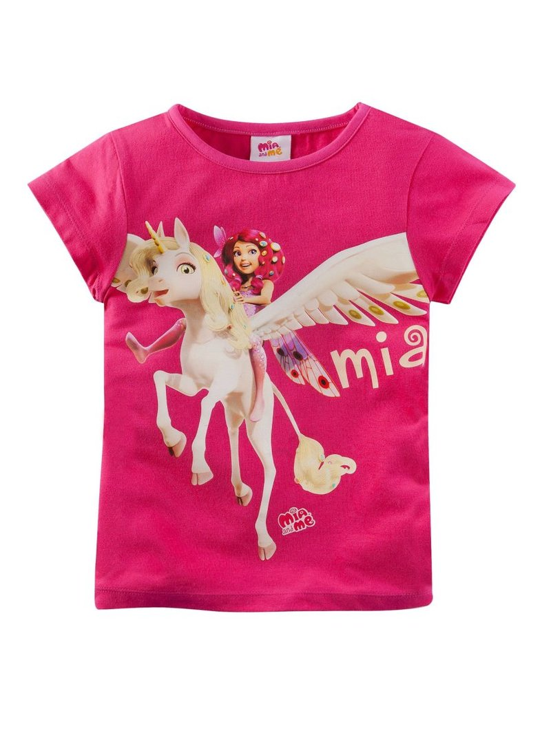 Camiseta niña de manga corta con estampado
