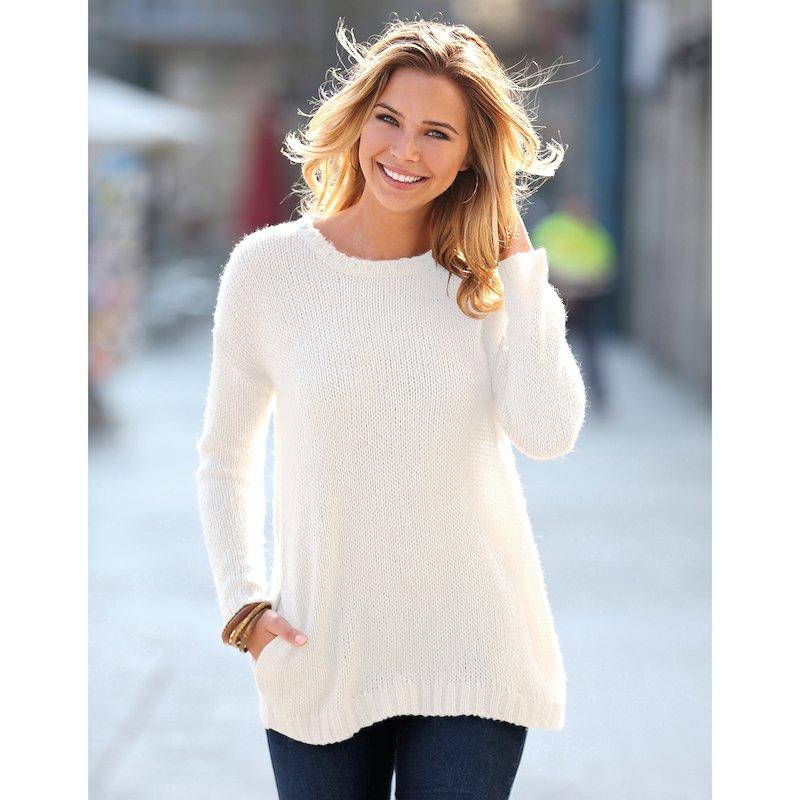 Jersey mujer en tricot de tacto mohair