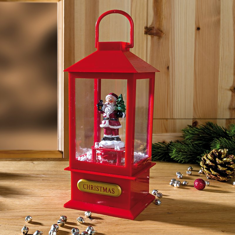 Farolillo con luz LED y música Jingle Bells