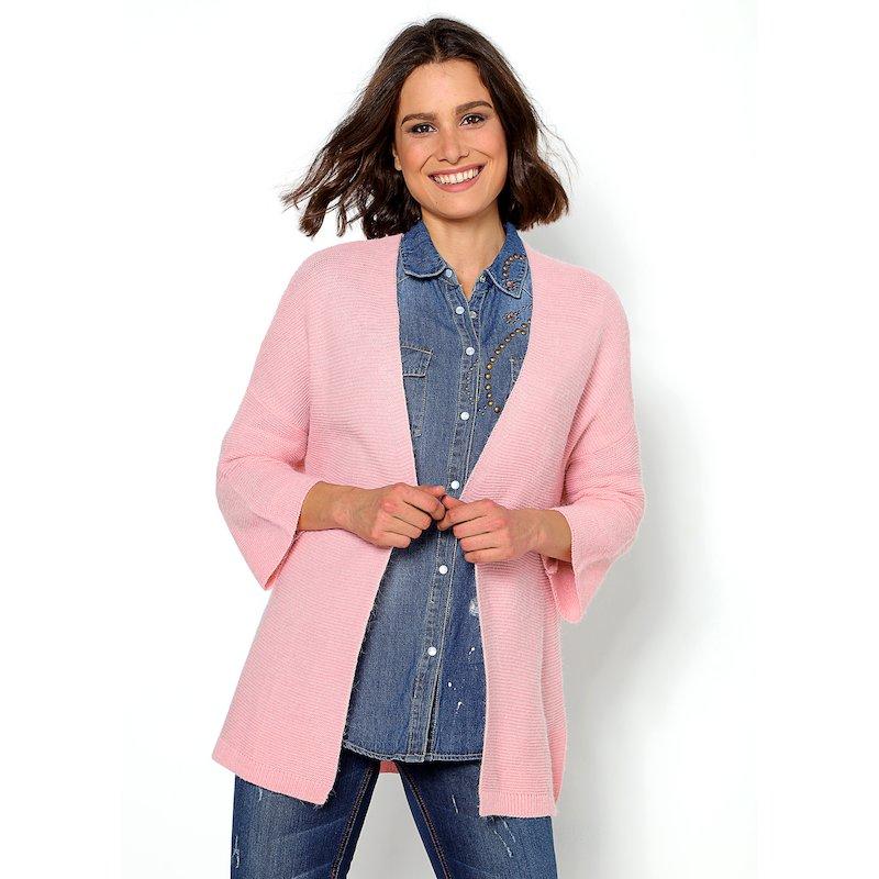 Chaqueta tricot amplia con aberturas laterales