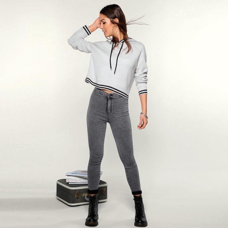 Pantalón vaquero largo de mujer skinny fit