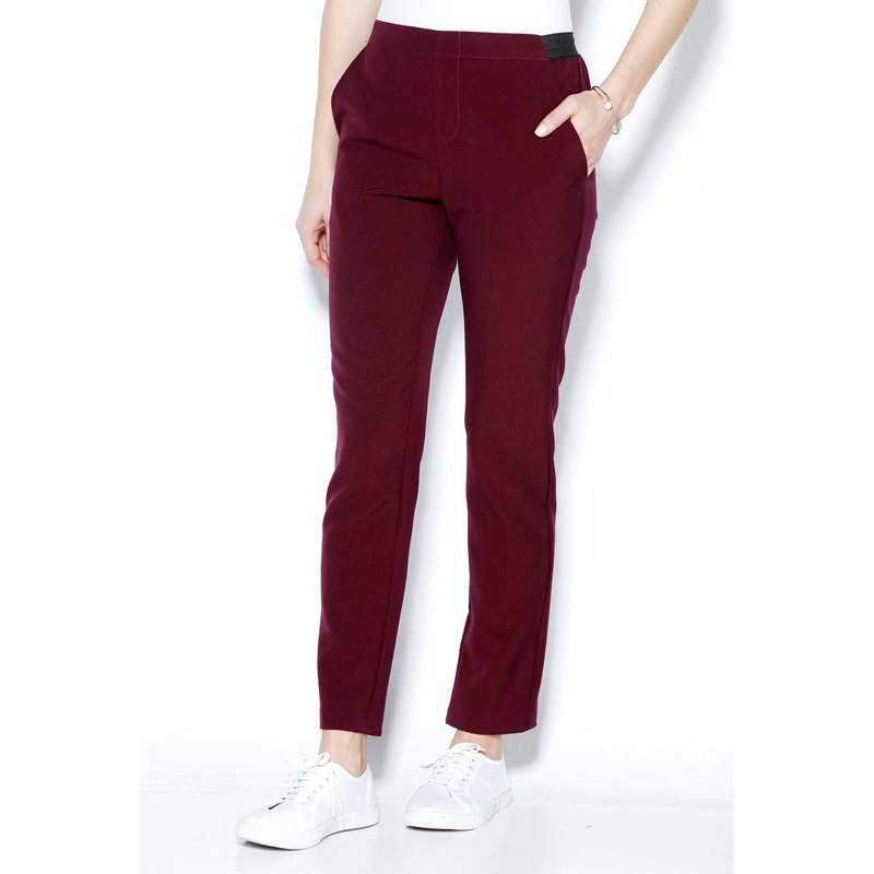 Pantalón largo efecto vientre plano elástico