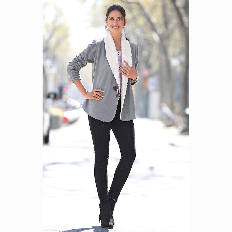 Pantalón largo mujer suave micropana elástica