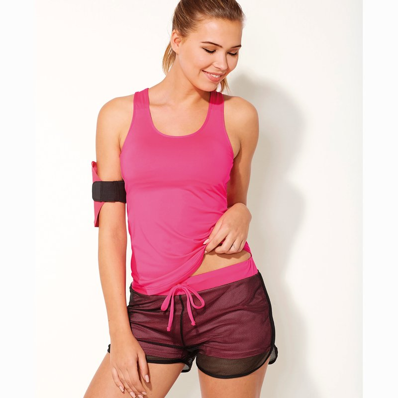 Camiseta deportiva con sujetador integrado